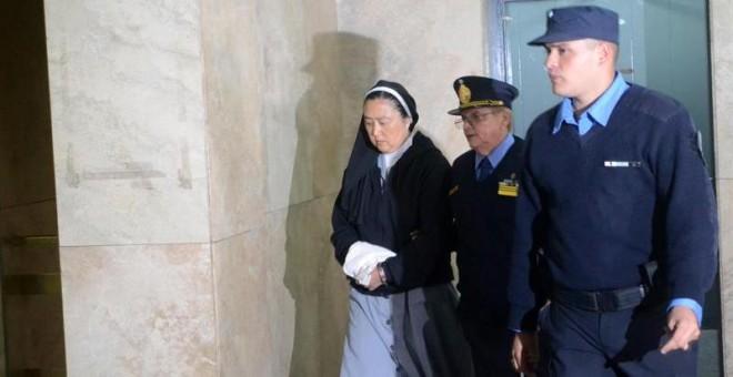 Fotografía cedida por el Ministerio Público Fiscal de Mendoza que muestra a Kosaka Kumiko, una monja católica de origen japonés, que fue imputada por la Fiscalía por su supuesta implicación en un sonado caso de abusos sexuales.- EFE