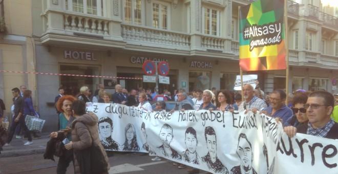 Manifestación celebrada este viernes en Madrid.- FERMIN GRODIRA