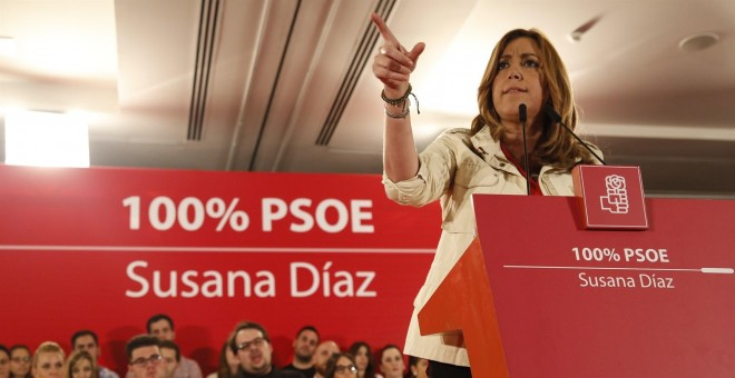 Susana Díaz, candidata a la secretaría general del PSOE./EUROPA PRESS