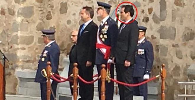 El secretario de Estado de Seguridad, José Antonio Nieto, en un homenaje a 'los caídos' franquistas.