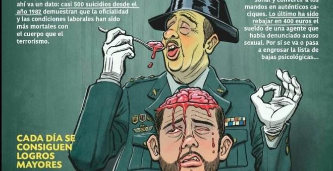 'Rompan Filas', sección de Luis Gonzalo Segura en 'El Jueves', denunciada por la Unión de Oficiales de la Guardia Civil.