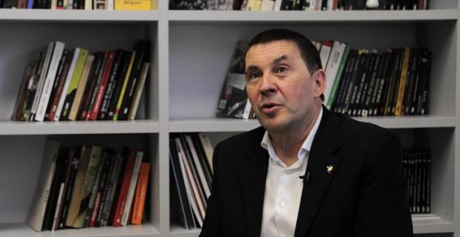 Arnaldo Otegi, secretario general de Sortu. ANDER GILLENEA/AFP
