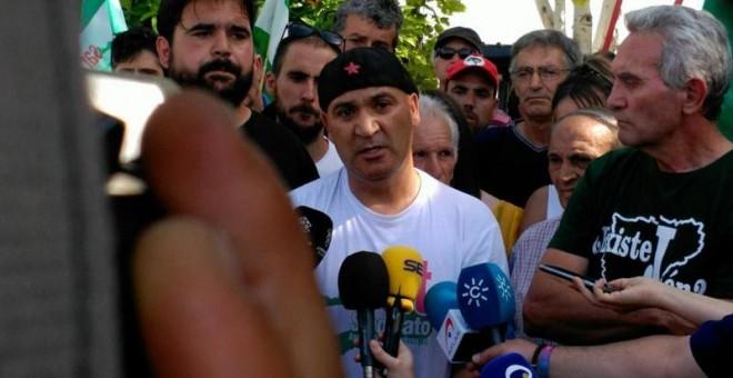 Andrés Bódalo tras salir de la cárcel con un permiso penintenciario.