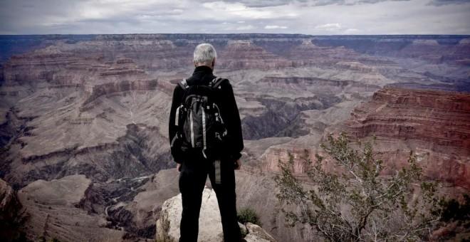 El autor de 'Tierra', en el Gran Cañón. / FOTO: XURXO MARIÑO