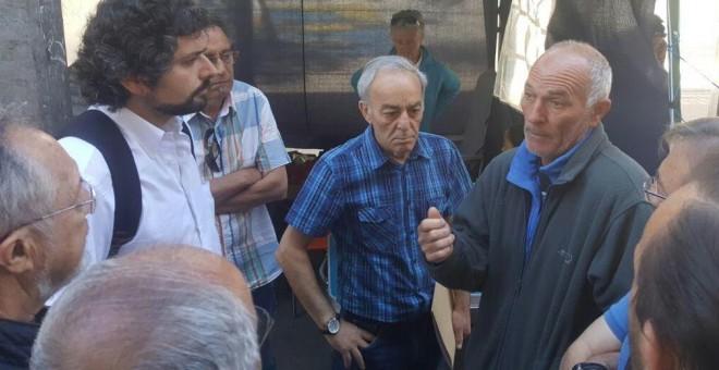 Ramón Álvarez junto a José Sarrión, portavoz de IU en Castilla y León
