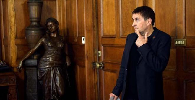 Arnaldo Otegi, el pasado 6 de junio en un acto en Donosti. | REUTERS