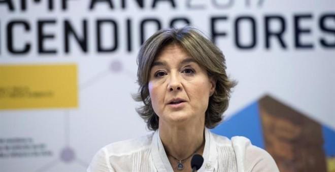 La ministra de Agricultura y Pesca, Alimentación y Medio Ambiente, Isabel García Tejerina, presenta la campaña de lucha contra incendios forestales en un año con 'riesgo elevado' debido a las altas temperaturas y la ausencia de lluvias y con el reciente y