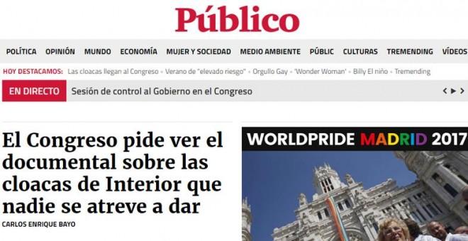 Portada de Público del 21/06/2017
