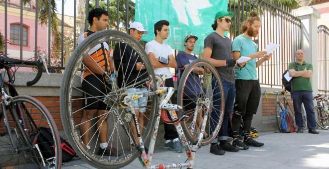 Rueda de prensa previa a la huelga de repartidores de Deliveroo del domingo 2 de julio./Twitter