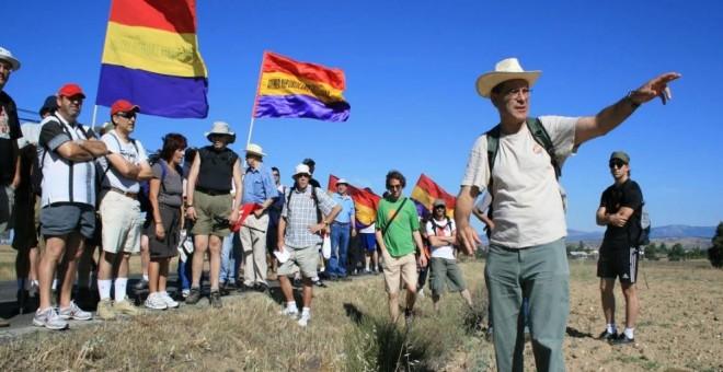 Foto de la III Marcha en conmemoración por la Batalla de Brunete / PÚBLICO