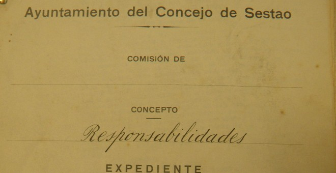 Documento del Ayuntamiento del Concejo del Sestao del año 1937. / D. A.
