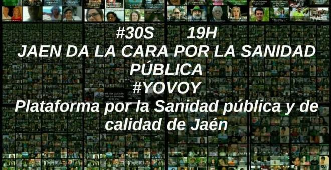 Cartel de la plataforma de Jaén por la sanidad pública