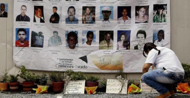 Un colectivo de víctimas conmemora la Operación Orión en La Escombrera, cuyas desapariciones suponen la fosa común de mayores proporciones en los últimos años en Colombia/ Luis Eduardo Noriega - EFE