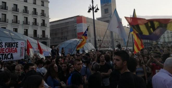 Movilización en Sol a favor del derecho a decidir en Catalunya / PÚBLICO
