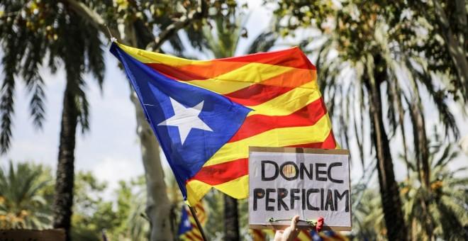 Miles de personan reclaman la libertad de los detenidos frente al TSJCat. XAVI HERRERO