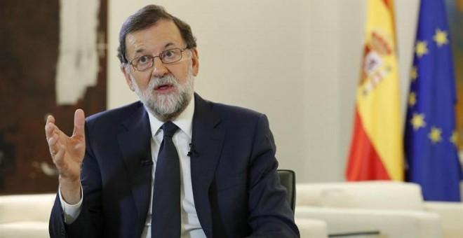El presidente del Gobierno, Mariano Rajoy, durante una entrevista. /EFE
