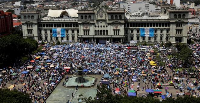 Protestas en Guatemala. /REUTERS