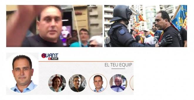 Uno de los ultras identificados por la Policía en la manifestación del 9 de octubre en Valencia