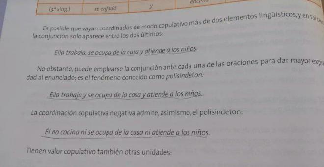 Ejemplos de estereotipos sexistas en libro de lengua