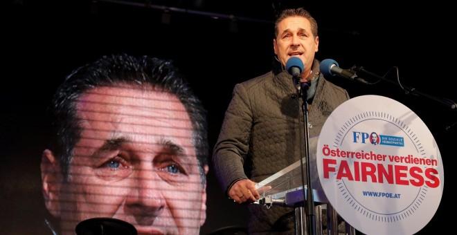 El líder del ultraderechista austriaco Partido Liberal (FPÖ), Heinz-Christian Strache.EFE/Dominic Ebenbichler