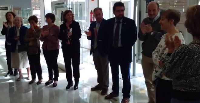 La Facultad de Ciencias de Zaragoza homenajeó este jueves a las tres pioneras en un acto al que asistieron descendientes de todas ellas.