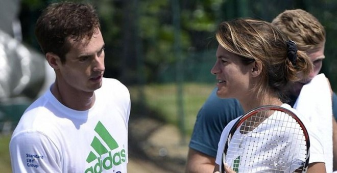 Andy Murray and Amelie Mauresmo criticaron el sorteo de las Next Gen Finals. REUTERS/Archivo