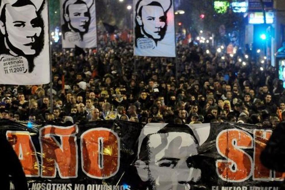 Manifestación en memoria del asesinato de Carlos Palomino. EFE/Archivo