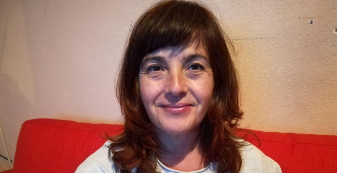 Isabel Tejero se enfrenta a dos años y medio de prisión tras intentar parar un desahucio.- CEDIDA
