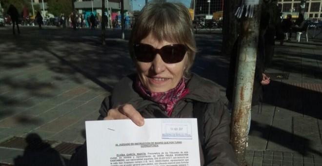 Felisa Echegoyen, con la querella interpuesta contra Billy el Niño. / CEAQUA