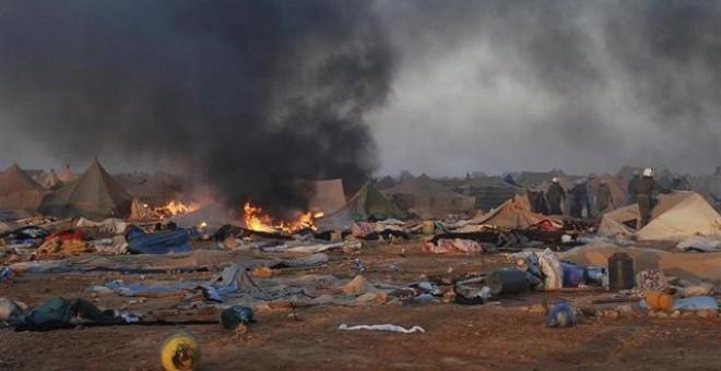 Campamento 'Gdeim Izik' tras el desalojo / EUROPA PRESS