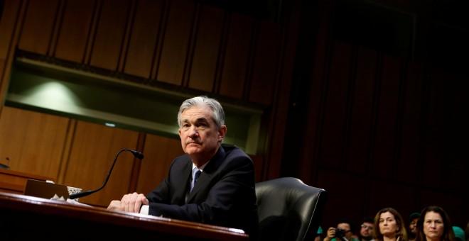 Jerome Powell, en su comparecencia en la Comisión Bancaria del Senado. REUTERS/Joshua Roberts