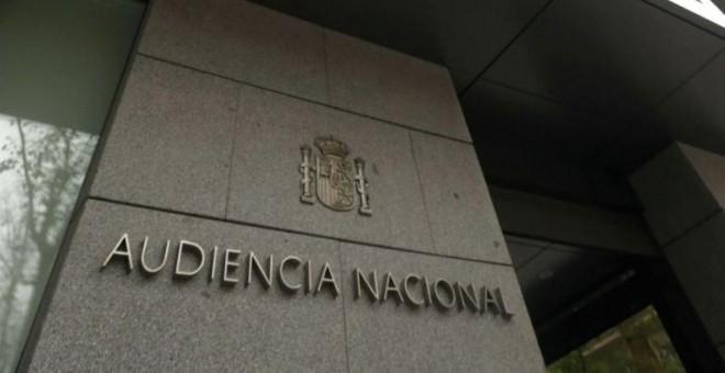 Entrada de la sede de la Audiencia Nacional en Madrid. E.P.