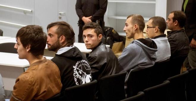 Los acusados durante el juicio iniciado en la Audiencia Nacional - FOTO: Luca Piergiovanni/ Efe