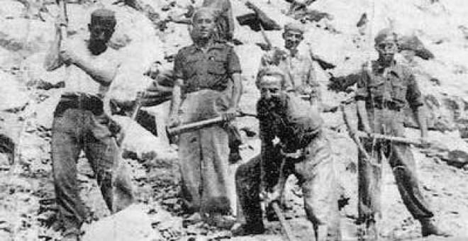 Esclavos del franquismo en el Valle de los Caídos.