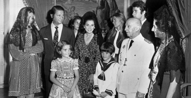 La familia Franco.- EFE