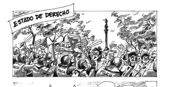 Viñeta del número de diciembre de la revista 'Militares', editada por la AME.