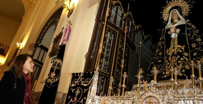 La ministra de Defensa, María Dolores de Cospedal, visita a la Iglesia del Salvador (Castilla La Mancha).