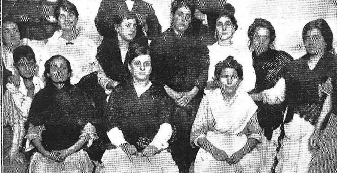 Mujeres en la revolución de Málaga, 1918.