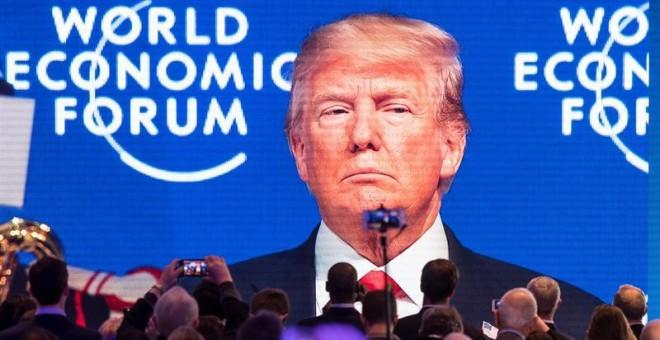 Intervención de Trump en Davos. / EFE