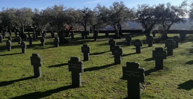 Cementerio militar en el que están enterrados 180 soldados alemanes que murieron en España durante la Primera y Segunda Guerra Mundial ubicado en Cuacos de Yuste, Extremadura.