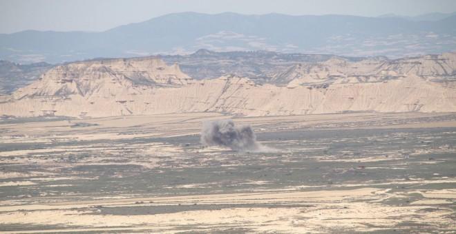 Imagen de una maniobras militares realizadas en junio.