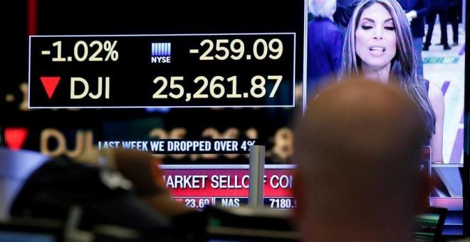 Wall Street cierra con fuertes pérdidas: el Dow Jones cae un 4,62%. Reuters/Brendan McDermid