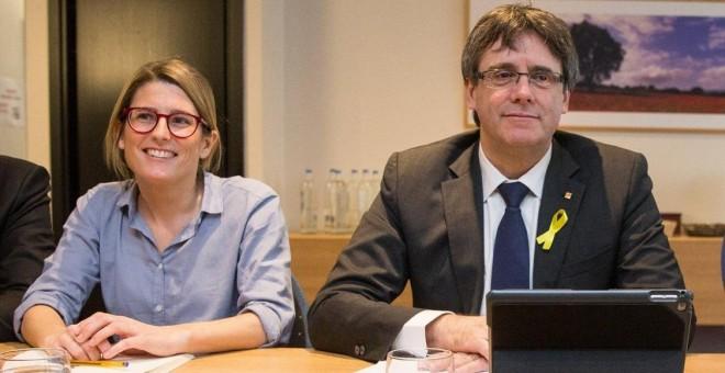 Carles Puigdemont y Elsa Artadi en una imagen de archivo. EFE/Stephanie Lecocq