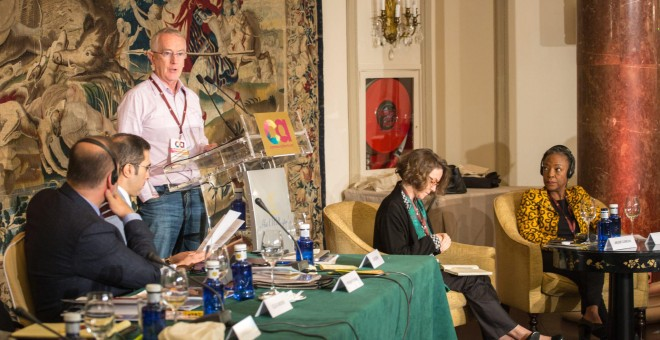 El profesor Keen en su intervención en el foro madrileño. COMMON ACTION FORUM