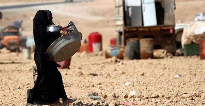Mujeres desplazadas en Siria. REUTERS/ERIK DE CASTRO
