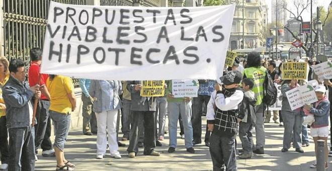 Manifestación en Madrid contra los fraudes hipotecarios. EFE/Víctor Ilerena