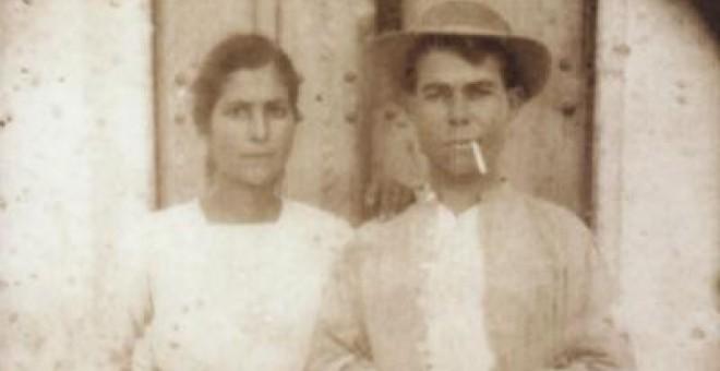 Enriqueta y José el día de su boda
