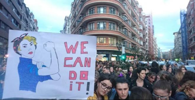Imagen de la manifestación de Bilbao. | D.A.