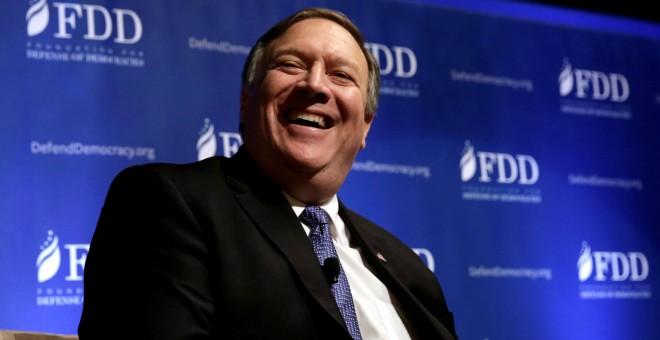 Foto de archivo del nuevo secretario de estado de EEUU y hasta ahora director de la CIA, Mike Pompeo, en un acto en  Washington. REUTERS/Yuri Gripas