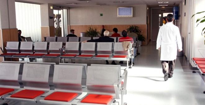 Sala de espera en un hospital.